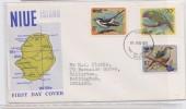 NIUE - FDC BIRD 1971 - BIRDS - PREMIER JOUR OISEAUX - OISEAU - Niue