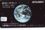 Télécarte Japon MAP * Carte Du Monde * GLOBE (460) Géographie * Mappemonde * Japan Phonecard * Telefonkarte * AARDBOL - Espacio
