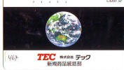 Télécarte Japon MAP * Carte Du Monde * GLOBE (467) Géographie * Mappemonde * Japan Phonecard * Telefonkarte * AARDBOL - Spazio