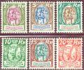 Liechtenstein 1924-7 Satz Winzer Schloss Zu#64-69 Mi#65-70 * Falz Ungebraucht - Liechtenstein