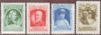 Liechtenstein 1929 Satz Zu#80-83 Mi#90-93 * Falz - Liechtenstein