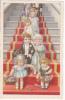 Couple D´enfants Jeunes Mariés Descendant Le Grand Escalier.  Signée Bertiglia. - Bertiglia, A.