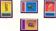 MALAWI 1977 # Yvert 277 / 280  HANDICRAFT MNH ** Animals Elephants - Malawi (1964-...)