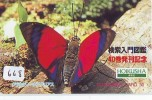 Télécarte JAPON * PAPILLON  (668) BUTTERFLY * JAPAN Phone Card *  SCHMETTERLING * MARIPOSA * VLINDER - Mariposas