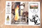 Caltolina Vigili Del Fuoco Con Annullo Postale Dedicato Tiratura 1.000 Pietra Ligure - Savona