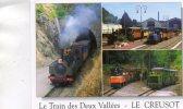 CPSM -71 - LE CREUSOT - Parc Touristique Des Combes - Le Train Des Deux Vallées -  323 - Le Creusot
