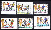 T)KOREA,1994 WORLD CUP SOCCER CHAMPIONSHIPS,US,SET(6),MNH.- - World Cup