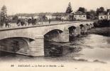 Baccarat: Le Pont Sur La Meurthe. Cpa Animée En Excellent état. - Baccarat