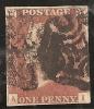 Grande-Bretagne (GB) Victoria 1841 - Penny Rouge Planche 21 AI - Oblitérés