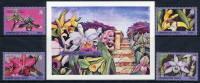 AZERBAIJAN 1995 Orchids (4v + Block)  MNH / ** - Azerbaïjan