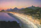 BRAZIL - AK 118567 Rio De Janeiro - Night View Of Copacabana - Leme Beach - Rio De Janeiro