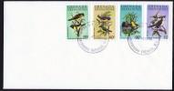 GRENADINES  1980  Songbirds  Complete Set FDC - Grenada (1974-...)