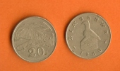 ZIMBABWE 1980-1996 KM4 20 Cents Normally Used Coin - Zimbabwe