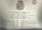 Ferdinando I° Re Delle Due Sicilie Edditto Napoli 18 Agosto 1824 - Napoli (Naples)