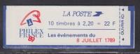 = Type Liberté De Delacroix 2.20fr Rouge Carnet  X 10  N° 2376-C12 Philex France 89 / 8 Juillet 1789 - Mirabeau - Carnets