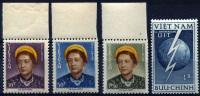 VIETNAM 1952 - Sc.14-17 (Mi.78-81) MNH (VF) - Vietnam