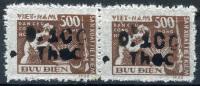 NORTH VIETNAM 1955 - Sc.5 (Mi.8) Ovptd As Officials (see Sc.O6-7) Not Described, Horiz. Pair - Vietnam