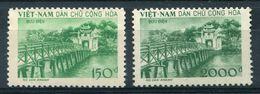 NORTH VIETNAM 1958 Temple Jade - Sc.86-87 (Mi.89-90, Yv.156-157) MNG (as Issued) VF - Vietnam