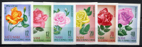 NORTH VIETNAM 1968 Roses - Sc.495-500 (Mi.526-531, Yv.586-591) Imperf. Set  MNG (as Issued) VF - Vietnam