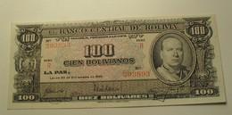 1945 - Bolivie - Bolivia - 100 CIEN BOLIVIANOS, 20 De Diciembre De 1945 - Série R - N° 293893 - Bolivien