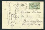 =*= Merson 145 Beau Centrage Seul Sur Carte Au Tarif Alger (rare - Utilisation Timbre Algérie)>>>>Belgique 29 4 1924 =*= - Cartas