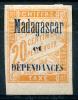 MADAGASCAR 1896 Taxe - Yv.3 (Mi.Porto 3, Sc.J3) MH (VF) - Madagaskar (1889-1960)