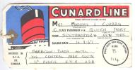 Cunard Line Luggage Tag , 1967 - Cargos