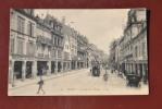 1 Cp Reims, La Rue De L'étape, Animée, Tramway, Hippomobiles, Commerces, Drouet D'Erlon - Reims