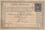 EURE 27.SERQUIGNY CARTE POSTALE PRECURSEUR 1878 CACHET SERQUIGNY A FECAMP - Serquigny