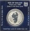 Israel 1990 Sea Of Galilee Gedenkmünze 1 New Shekel  In Originalverpackung 850 Silber Silver Argent - Israel