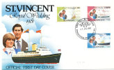 St. Vincent FDC 17-7-1981 Royal Wedding Prince Charles And Lady Diana With Nice Cachet - St.Vincent (1979-...)