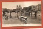 D75 - PARIS - ILE SAINT LOUIS - LE QUAI D'ORLEANS ET NOTRE DAME -  état Voir Descriptif - France