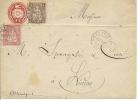 10 Rp. Tüblibrief Mit 15 Rp. Zusatzfrankatur Von Genf Nach Lindau - Stamped Stationery