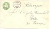 1889 25 Rp. Tüblibrief Von Avenches Nach Stade Hannover Deutschland - Stamped Stationery