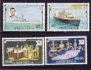 Anguilla Scott # 271-74  MNH Silver Jubilee QEII Ships - Anguilla (1968-...)