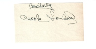 Carole Lombard (1908-1942) Hollywood Glamour Star, Wife Of Clark Gable, Signature, 5x3 Inches, Black Ink On White Paper - Autographes