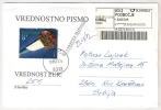 SLOVENIA 2012. INSURED LETTER WITH ATM LABEL MACHINE STAMP PODBOCJE - Eslovenia