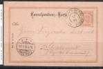 GS 1898 Von Schönberg In Tirol Nach Stralsund - Siehe Scan - Ganzsachen