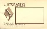 Briefkaart Visitekaart J. Ryckaseys - Agent Commercial Ostende - Oostende - Schoenen - Cartes De Visite