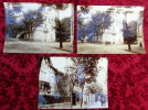 Ancienne Photo Originale XIXè Lot De 3 Grandes PHOTOS ANIMEES Essai Originale VICHY Rue PRUNELLE - Ancianas (antes De 1900)