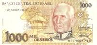 BILLETE DE BRASIL DE 1000 CRUZEIROS (BANKNOTE) - Brasil
