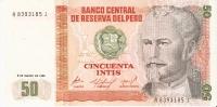 BILLETE DE PERU DE 50 INTIS DEL AÑO 1986  (BANKNOTE) NUEVO- SIN CIRCULAR - Perú