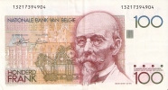 BILLETE DE BELGICA DE 100 FRANCOS   (BANK NOTE) - [ 2] 1831-... : Reino De Bélgica