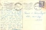Marcophilie Timbre Seul Yt 718a 4f50 Bleu 1947  Marianne De Gandon Sur Cp - Postmark Collection (Covers)
