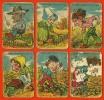 """LOT De 6 Cartes """" LA FAMILLE COURTEPAILLE """" Caricature Métier Cultivateur (jeu Des 7 Familles) Agriculture °° En L´état - Non Classés"""
