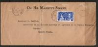"BRITISH GUIANA   Scott # 229 And FREE Frank On 1937 ""O.H.M.S."" COVER To FRENCH GUIANA - British Guiana (...-1966)"