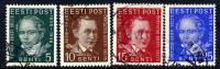 ESTONIA 1938 Literary Society Set  Used  Michel 138-41 - Estonia