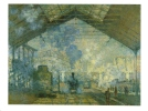 Gare St Lazare   -   Artist  Claude Monet - Gares - Avec Trains