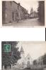 76 CAILLEVILLE 1910 1950 5 CP RUE MONUMENT CHATEAU ECOLE FAUX PLI SUR CPSM - France