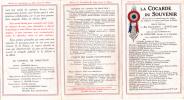 LA COCARDE DU SOUVENIR SOUVENIR DES TOMBES DES MILITAIRES ET MARINS MORTS POUR LA PATRIE - Vieux Papiers